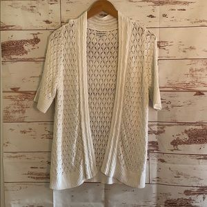 Croft and Barrow White Knit Cardigan
